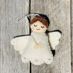 Felt Christmas Tree Decorations, Dragonfly Toys, Pashom, Angel White