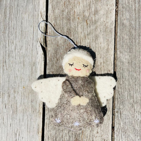 Felt Christmas Tree Decorations, Dragonfly Toys, Pashom, Angel Grey