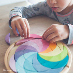 Building Set Colour Wheel Puzzle Pastel New Grimms 2019, Dragonflytoys