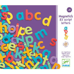 Wooden magnetic alphabets