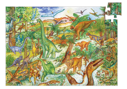 Dinosaur Observation Puzzle (100 Pieces) by Djeco, Dragonflytoys