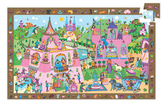 Princess 54 Pieces Observation Puzzle by Djeco, Dragonflytoys