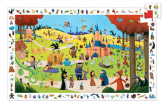 DJ7561 Fairy Tales 54 Pieces Observation Puzzle by Djeco, Dragonflytoys