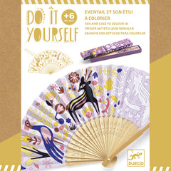 Do it Yourself Woodland Beauty Fan and Case by Djeco, Dragonfly Toys