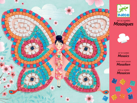 Butterfly Mosaic Craft Kit by Djeco, dragonflytoys