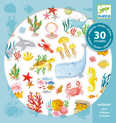 Aqua Dream Glitter Stickers by Djeco , Dragonflytoys