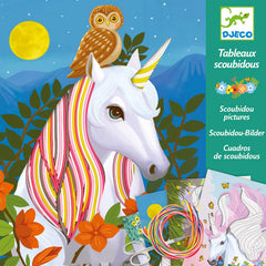 Unicorn Magic Mane Scobidous Pictures Craft Kit