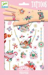 Fiona Mermaid Jewels Tattoos by Djeco,Dragonflytoys