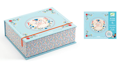 Little Sewing Box Kit by Djeco,Dragonflytoys