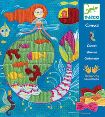 Djeco Mermaid Embroidery Kit