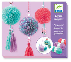 Wool Pendant Pom Pom Craft Kit by Djeco