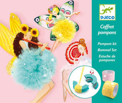 Fairy Pom Pom Craft Kit by Djeco,Dragonflytoys