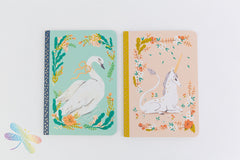 Small Unicorn/Swan Set of 2 Notebook Lucille by Djeco, dragonfly toys