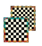 Double sided chess and draughts game