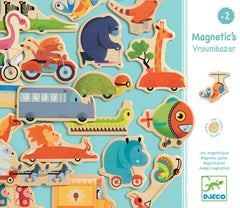 Djeco Wooden Magnetic Animals and Vehicles