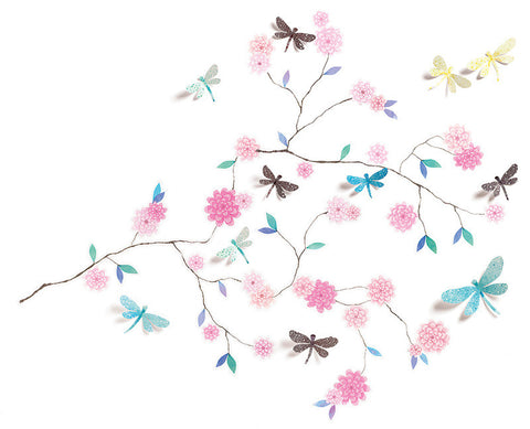 Djeco Wall Sticker Dragonflies Tree