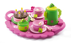Large Wooden Birthday Picnic Tea Set by Djeco