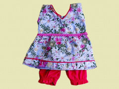 Large Doll's summer  Dress  + Bloomers