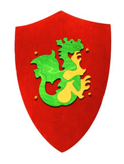 Wooden Shield with Dragon