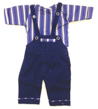 Large Doll Dungarees and shirt