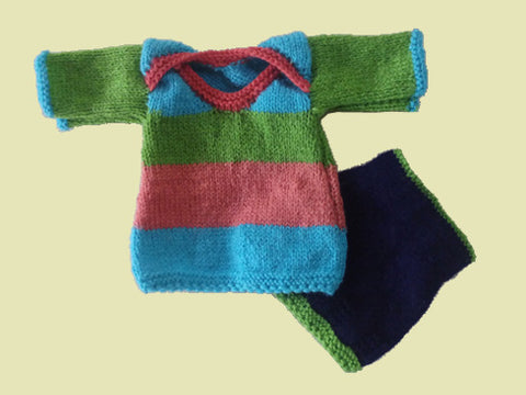Dragonflytoys Knitted Large Doll Top and Dress