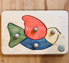 Natural Wooden Bird Puzzle by Drei Blatter, dragonfly toys
