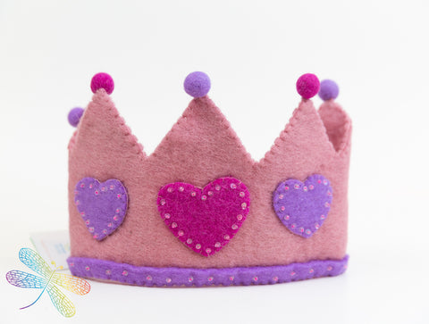Felt Crown, Dragonfly Toys, Pashom