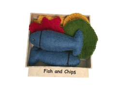 Felt Fish and Chips Set