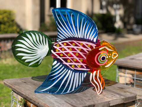 Fighting Fish - Mooncake Festival Lanterns, Chinese, Vietnamese, Malaysian, Mid-Autumn, New Year, Dragonfly Toys
