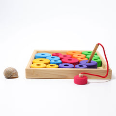 First Threading Game with Wooden Tray by Grimms