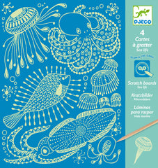 Glow in the Dark Sea Life Scratch Cards