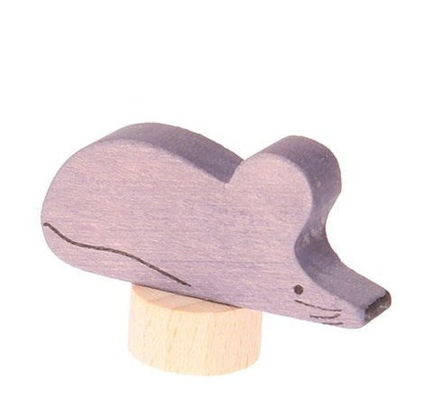 Grimms Birthday and Advent Ring Decoration - Grey Mouse