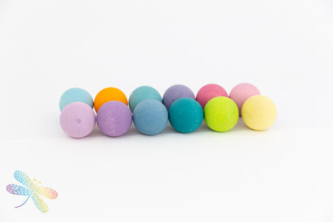 Small Pastel Marble Balls by Grimms New 2019 Range, dragonfly toys