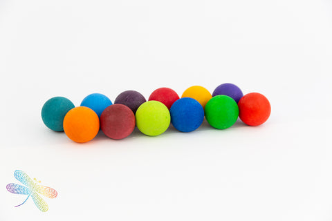 Small Rainbow Marble Balls by Grimms New 2019 Range, Dragonfly toys
