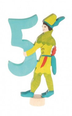 Grimms Birthday Advent Decoration Handpainted Robin Hood Figure Number 5