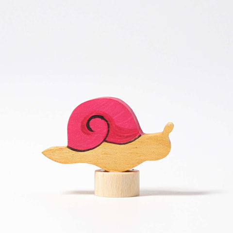 Grimms Birthday and Advent Ring Decoration - Pin Up Pink Snail