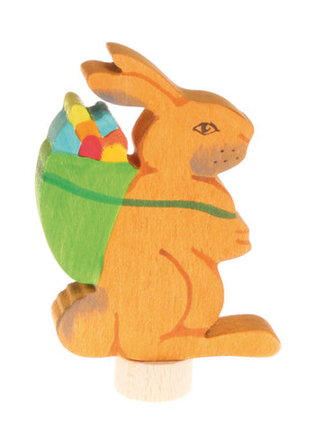 Grimms Birthday and Advent Ring Decoration Easter Rabbit with Basket