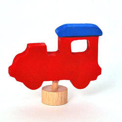 Grimms Birthday and Advent Ring Decoration Red Locomotive