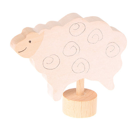 Grimms Birthday and Advent Ring Decoration Standing Sheep