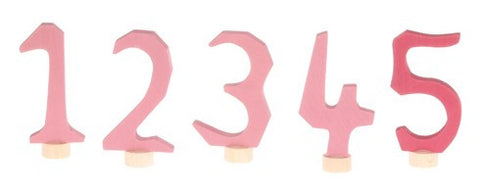 Grimms Pink Numbers 1-5 for Advent and Birthday Ring