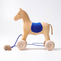 Grimms Pull Along Horse Holly Dragonflytoys