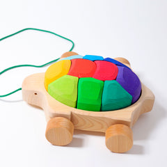 Grimms Pull Along Rainbow Turtle, Dragonflytoys