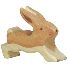 Wooden Small Hare Running Holztiger