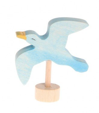 Grimms Birthday and Advent Ring Decoration - Handpainted Seagull