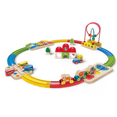 Hape Rainbow Route Railway And Station Set