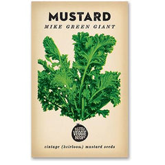 Heirloom Flower Seeds - Mustard 'Mike Green Giant', Dragonflytoys