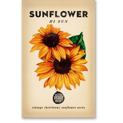 Heirloom Flower Seeds Sunflower Hi Top