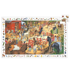 Horse Riding Observation Puzzle (200 Pieces) by Djeco,Dragonflytoys