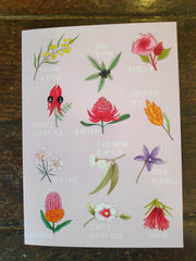 Greeting Card - Australian flowers