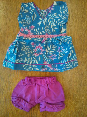 Small Doll's summer  Dress  + Bloomers
